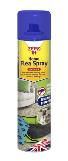 300ml Zero In Home Carpet Cats Dogs Pet Flea Treatment Spray for cats dogs